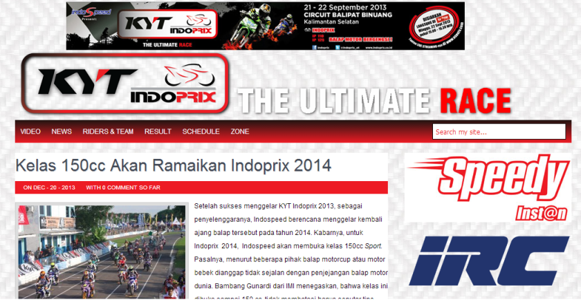 Official website www.indoprix.co.id