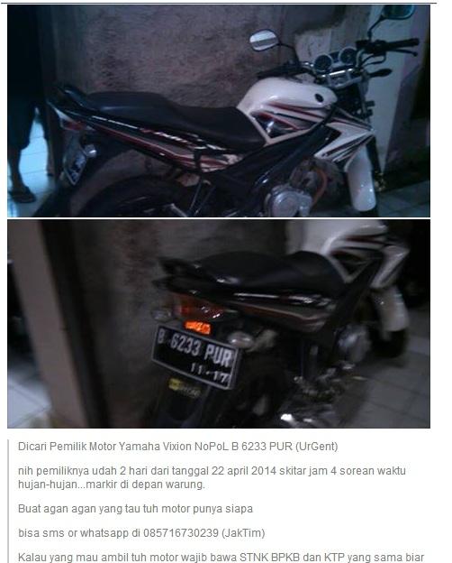 Motor Ditinggal