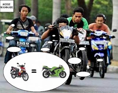 alay naik motor 6