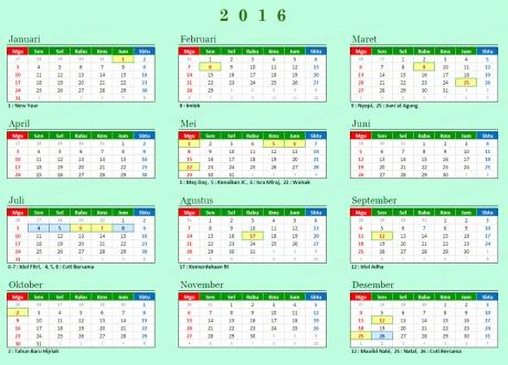 Kalender-hari-libur-dan-cuti-bersama-2016