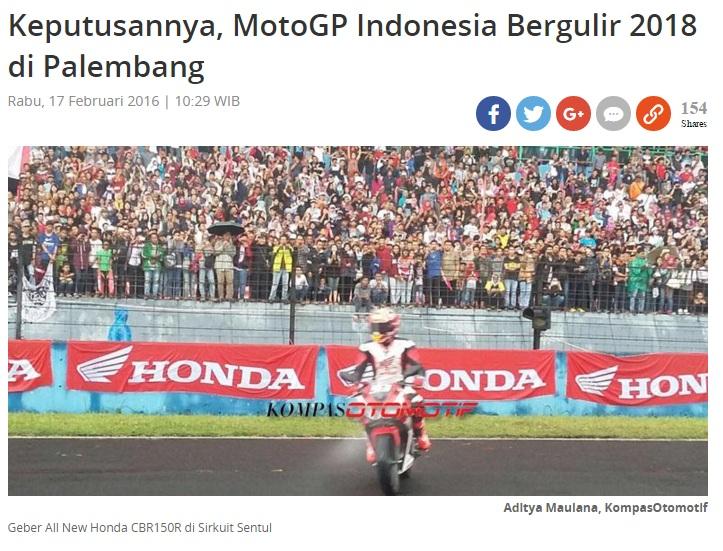 motogp indonesia palembang 2018
